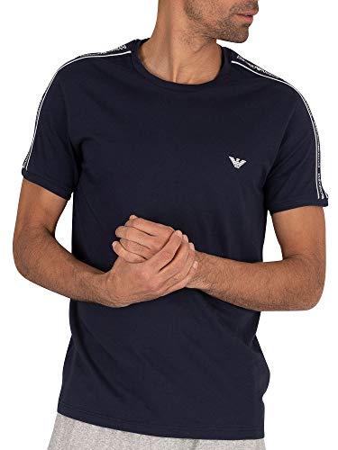 Emporio Armani Underwear Herren Multipack-Core Logoband T-Shirt, Blau (Marine 00135), Large (Herstellergröße:L)
