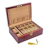 QAZX Caja de Joyas Vintage Madera Sólido Joyería Caja De...