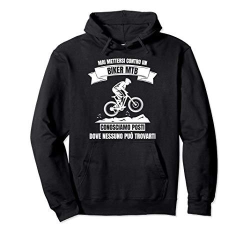MTB Mountain Bike Uomo Divertente Bici Regalo Felpa con Cappuccio