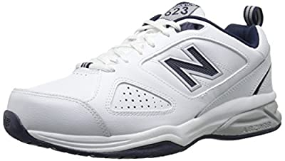 New Balance Men's 623 V3 Casual Comfort Cross Trainer, White/Navy, 15 M US