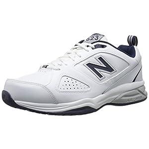 New Balance Men's 623 V3 Casual Comfort Cross Trainer, White/Navy, 10