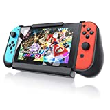CSL - Batterie externe support pour Nintendo Switch - Poignées manettes Joy Con - switch Charger Powerbank- Chargeur portable 10000 mAh - Coque de protection - Emplacements pour jeux et cartes MicroSD