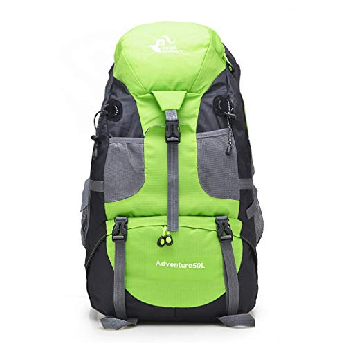 SHRAY 36-55L Outdoor Sports Bag Mountaineering Bag Hiking Backpack Men and Women Casual Backpack Rock Climbing Camping High Capacity Multifunction with Rain Cover Backpack Green
