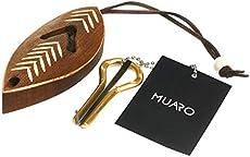 MUARO Jew's Harp by P.Potkin in a Dark Wooden Case (Mouth Musical Instrument)