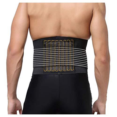 Men's Waist Trimmer Belt - Lightweight Elastic Adjustable Sports Belt Breathable Lumbar Lower Back Trainer Support Brace Belt Body Shaper Weight Loss Exercise Belly Belt (L) Photo #2