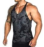 Hommes Débardeur Sport Séchage Rapide T-Shirt sans Manches Respirant Musculation Gym Running (M, Noir)