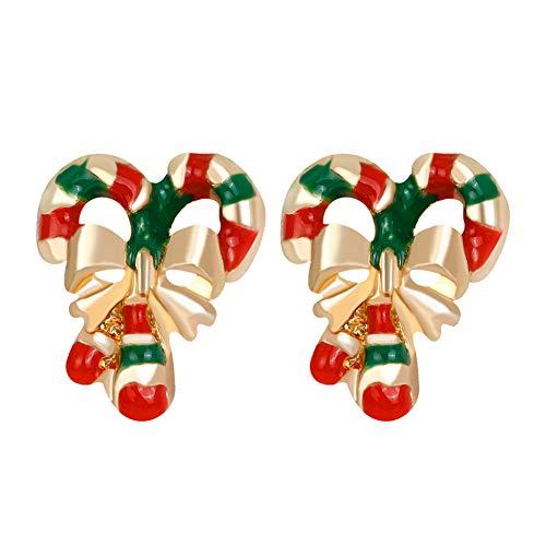 Demarkt–Azucarero Barra Pendientes Colgador miniblings Caramelo Navidad