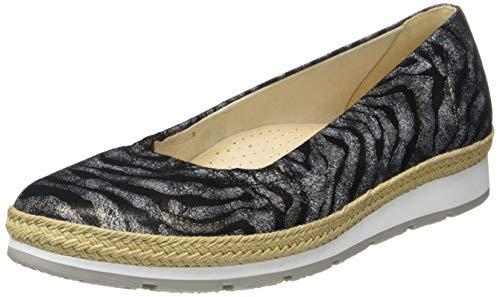 Gabor Shoes Damen Comfort Sport Geschlossene Ballerinas, Schwarz (Schwarz (Jute) 27), 38.5 EU