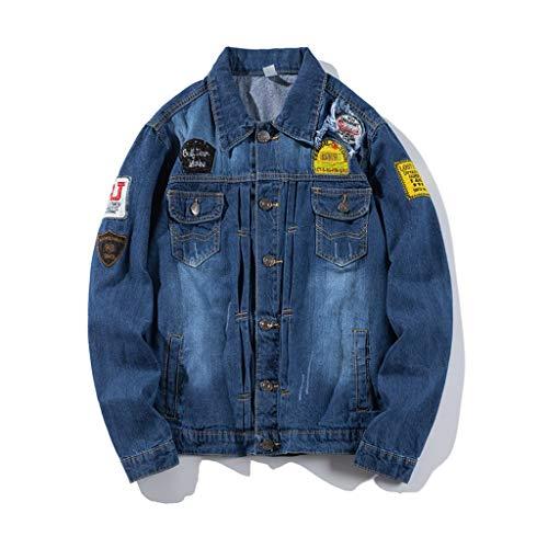 FRAUIT Giacca Jeans Uomo Vintage Oversize Denim Giacche Invernali Ragazzo Eleganti Taglie Forti Giubbotto Uomini Elegante Inverno Autunno Autunnale Giubbini Cappotti Outwear Tops Parka