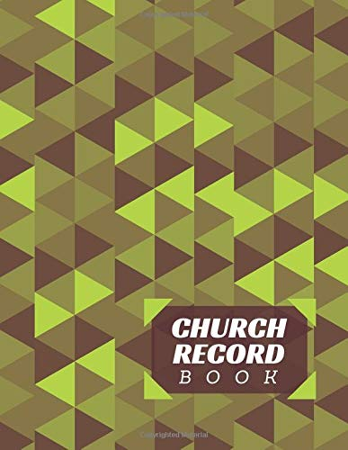 Church Record Book: Ruled Christian Church Membership Record Book, Members Register Notebook, Gifts for Church Secretariat, Membership Secretary, ... Many More, 110 pages. (Church Membership Log)