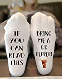 If You Can Read This Bring Me A Dr Pepper Socks Novelty Funky Crew Socks Men Women Christmas Gifts Cotton Slipper Socks