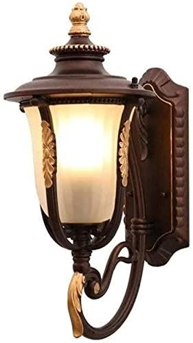 PJPPJH Aplique de Pared de Simplicidad Moderna Accesorio de iluminación para Exteriores Lámpara de Pared a Prueba de Lluvia Externa Antigua Luz de Mesa de Paisaje Decoración de terraza Luz de Soporte