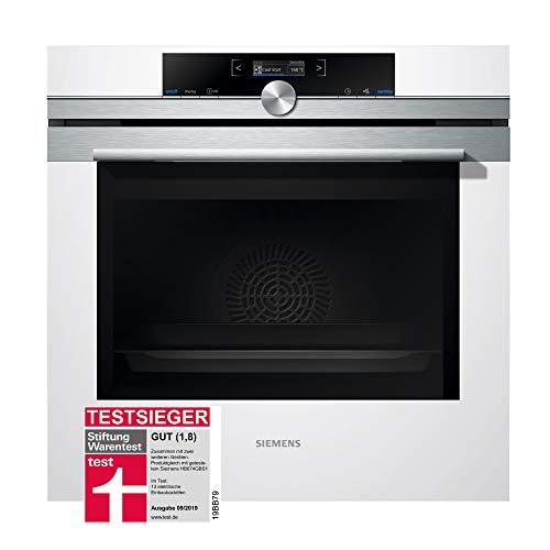 Siemens iQ700 Einbau-Elektro-Backofen HB674GBW1 / Weiß / A+ / activeClean Selbstreinigungs-Automatik / coolStart-kein Vorheizen / Backofentür mit SoftMove für gedämpftes Öffnen und Schließen