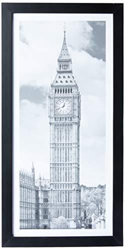 Print com Vidro P&B Cidades - London Kapos Preto
