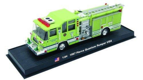 Pierce Quantum Pumper Fire Truck Diecast 1:64 Model (Amercom GB-8)