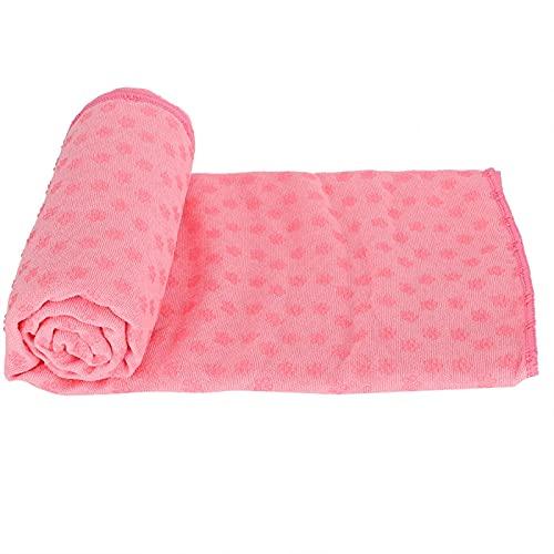 Tomantery Manta de Toalla de Estera de Yoga insípida Ligera para Fitness para Gimnasio(Pink)