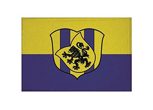 U24 Aufnäher Delitzsch Fahne Flagge Aufbügler Patch 9 x 6 cm