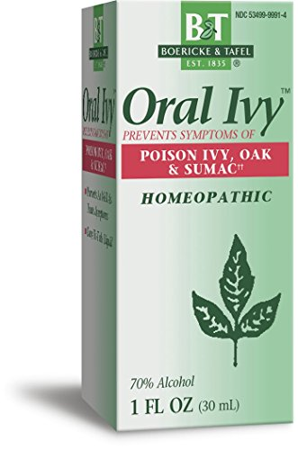 Boericke & Tafel Oral Ivy Liquid, Homeopathic Treatment & Prevention of Poison Ivy, Poison Oak & Poison Sumac, Relieves Itching & Burning, 1 FL Ounce