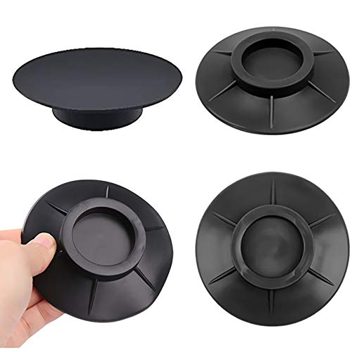 Lot de 4 amortisseurs de vibrations en caoutchouc - Antidérapants - Antivibration - Tapis de protection en silicone - Anti-vibration - Tapis anti-chocs - Tapis anti-vibration pour machine à laver