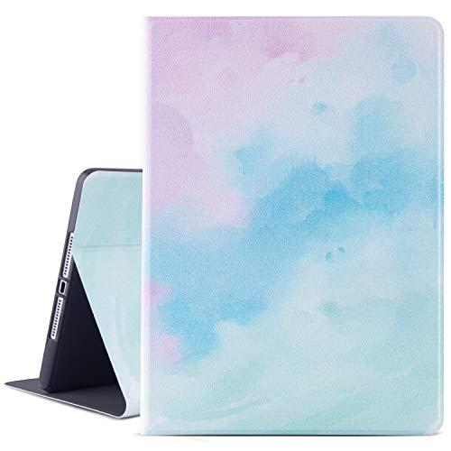 9.7 Inch Ipad Case 2017/2018, Ipad Air Case, Ipad Air 2 Case, Vimorco PU Leather Ipad Cover Stand with Auto Wake/Sleep,Watercolor
