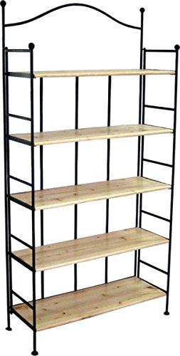 Gartenwelt Riegelsberger Metallregal mit Holzböden H 176 x B 89 x T 33 cm Regal Metall Holz 75474