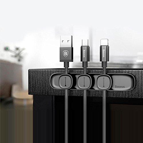 Shop-STORY – Organizador de cables y cable USB con 3 clips magnéticos...