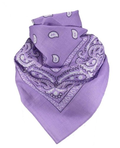 Harrys-Collection Unisex Bandana Bindetuch 100% Baumwolle (1 er 6 er oder 12 er Pack), Farbe:flieder