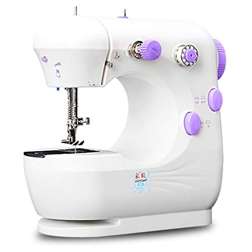 Great Deal! Tinffy Mini Electric Small Double-Wire Two-Speed Multi-Function Sewing Machine