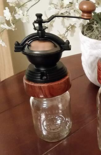 Mason Jar Coffee Grinder - Hand Made - Manual Coffee Grinder