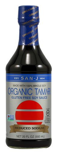 San-J Organic Reduced Sodium Gluten Free Tamari Soy Sauce -- 20 fl oz - 2 pc