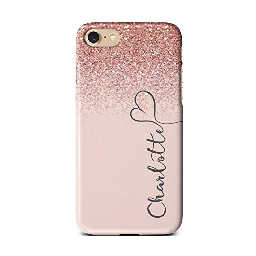 iCaseDesigner Personalised Marble Glitter Flowing Name with Heart Phone...