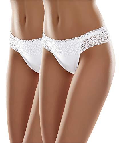 Merry Style Damen Slip MSGAB140 (Weiß (2Pack), 40 (Herstellergröße: L))