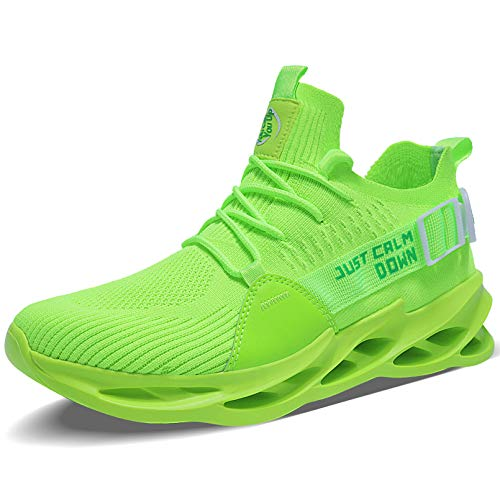 MAYZERO Mens Blade Sneakers Running Tennis Shoes Sport Athletic Shoes Fashion Workout Walking Shoes Green