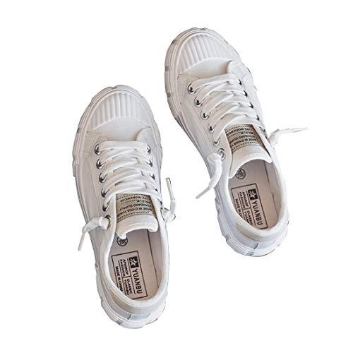 O&N Frauen Segeltuchschuhe Espadrilles Sportschuhe Damen Flache Turnhalle Sport Leichte Laufschuhe Leinwand Schuhe Sneakers