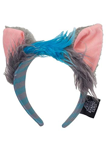 Disney Alice Through The Looking Glass Cheshire Cat Ears Headband and Tail Deluxe Costume Accessory Kit Blue