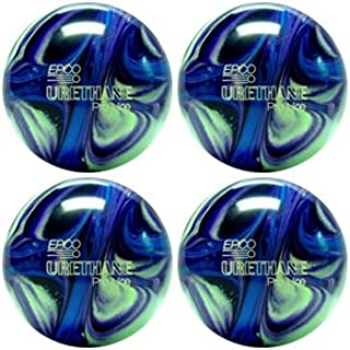 EPCO Candlepin Bowling Ball- Urethane Pro-Line - Purple, Blue & Mint Four Ball