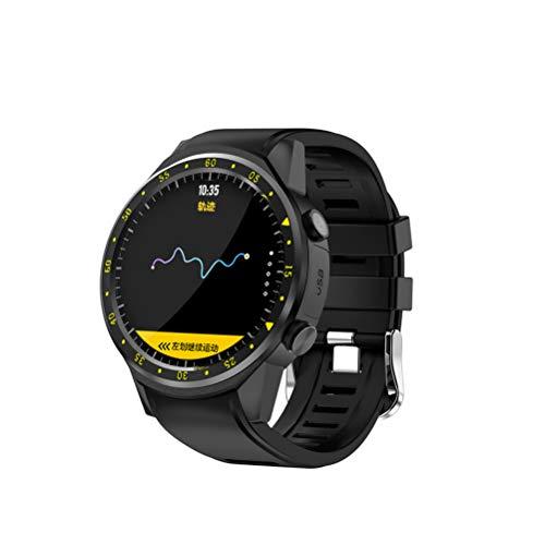Smart Watch Sport Armbanduhr mit Kompass GPS-Fernbedienung Kamera Unterstützung SIM-Karte Blautooth für Android IOS - Schwarz