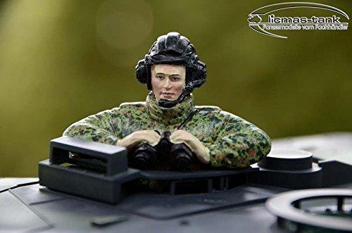 Leopard Panzer Bundeswehr Kommandant handbemalt Resin 1:16 licmas-tank