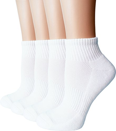 Women's Athletic Low Cut Ankle Quarter Cushion Socks