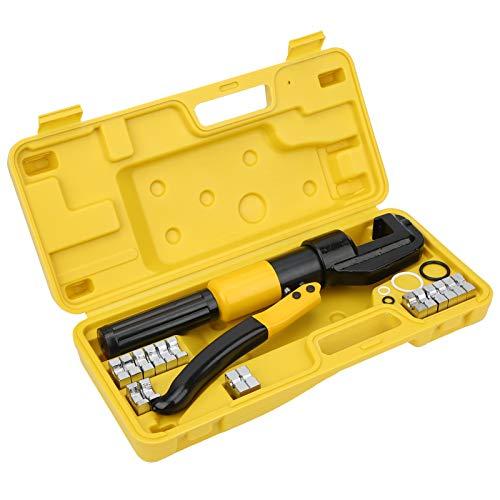 Alicates hidráulicos portátiles, mango ergonómico YQK-70 Alicates hidráulicos Cómodo Conveniente con 16 moldes Estuche de transporte para el operador para uso industrial