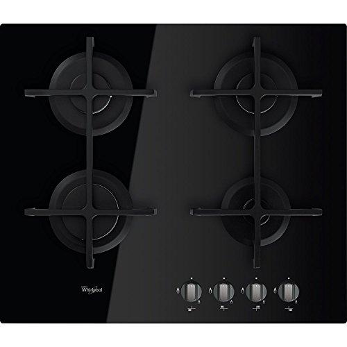 Whirlpool AKT 6420/NB Integrado Encimera de gas Negro hobs - Placa (Integrado, Encimera de gas, Hierro fundido, Negro, hierro fundido, Giratorio)