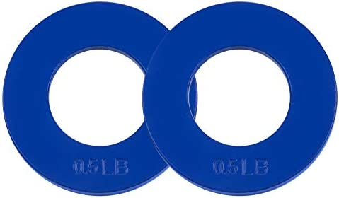 Logest Fractional Olympic Plates Set of 2 Plates - 1 LB 1.25 LB 1.5 LB (Choose Set) Fractional Weight Plates Designed for Olympic Barbells for Strength Training and Micro Plates Weight Plates