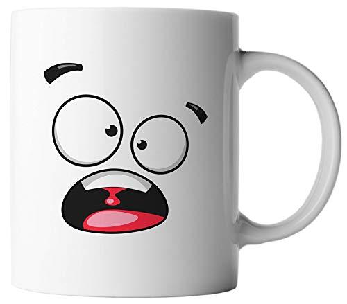 vanVerden Tasse - Lustige Gesichter Emoticon Emoji - beidseitig Bedruckt - Geschenk Kaffeetassen, Aufdruck:Yell