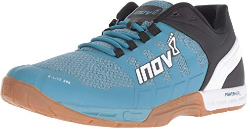 Inov-8 Womens F-Lite 290 - Ultimate Cross Training Shoes - Power Heel - Performance Trainer for Gym and Weight Lifting - Blue Grey/White 9.5 W US
