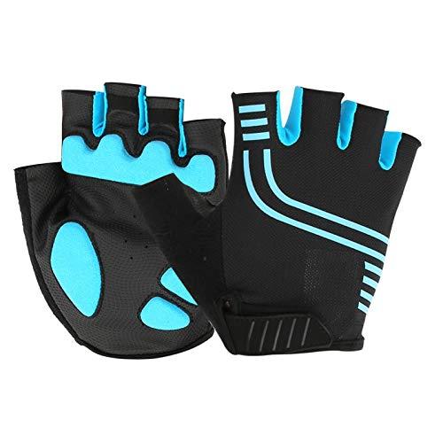 Brea(327 Half Finger-Blue Black, XXL)