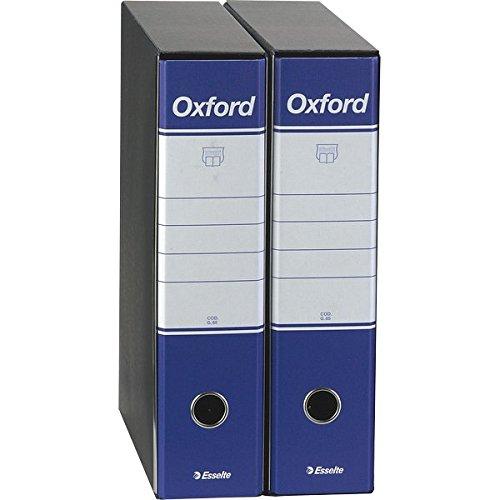 Esselte 390783050 Registratori Oxford, Commerciale, Dorso 8, 23 x 30 cm, Confezione 6, Blu