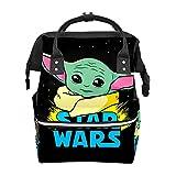 Mochila para pañales de Star Wars Yoda Baby Impermeable Bolsa de bebé Mochila de pañales para mamá y papá Mochila ligera de gran capacidad para pañales, mochila de viaje