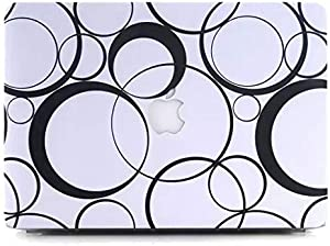 Smart Fashionable Circle Design Matte Rubberized Hard Case Cover For Macbook Retina 13.3 Inch -dp1-