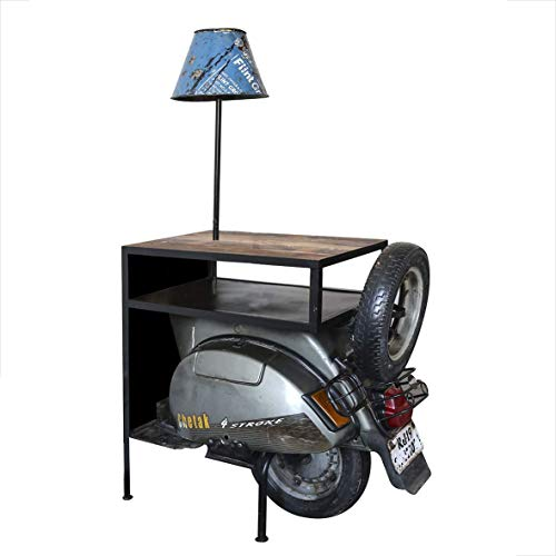 Casablanca Edler Beistelltisch Roller 140cm Metall Holz Regal Kommode Regal Vespa Motorrad