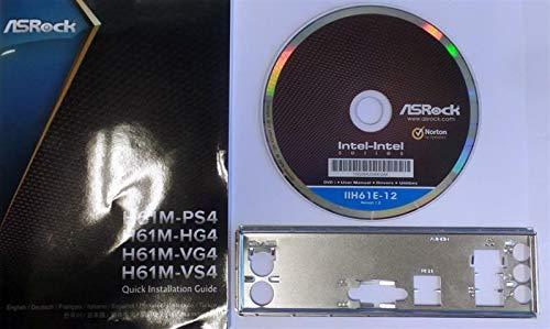 ASRock H61M-VG4 - Handbuch - Blende - Treiber CD